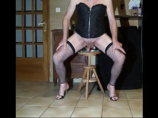 heels bas crossdresser dildo resille hight cum