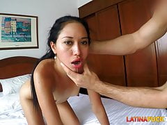 Picking Up a Hot Latina and Fucking Her Face
