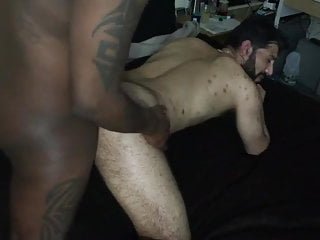 ARAB bottom getting dicked down by Black cock