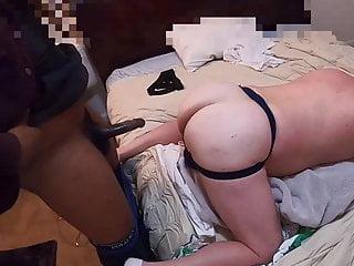 Big Ass Bottom Slut Takes Anon Thick BBC Ass Up Door Cracked