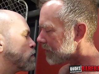 Bald hunk Jake Mitchell bareback hard pounded tattooed gay