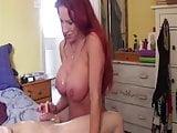 funny handjob (cum on boobs)