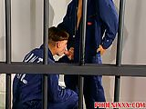 Horny inmates cant resist to fuck and suck dicks in jail