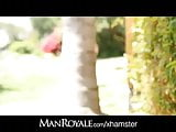 ManRoyale College Dude Shoots Hoops and Sucks a Big One