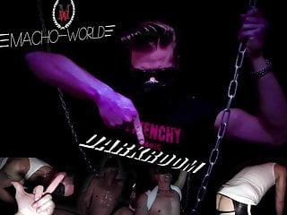 Macho in a BDSM darkroom