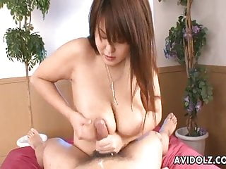 Asian busty suck on...