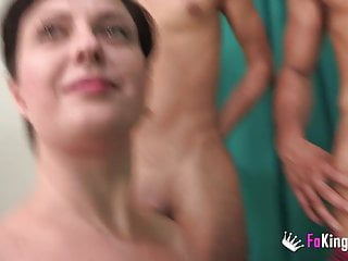 BUSTY Romanian housewife picks plus fucks one of the two