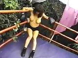 Boxing Blonde vs Brunette Beat Down