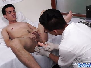 Doctor twink administers dildo pleasure