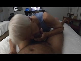 Grey haired sucking his friend 039...