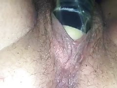 Playing with wife in truck