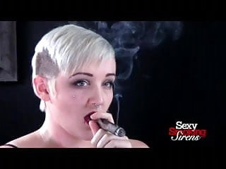 Cigar Smoking Fetish - Punk Rock Blonde Smokes a Cigar