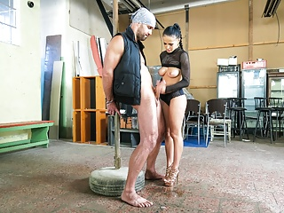FemDom a Hard - Slave Obedient Gives  Nicole Time