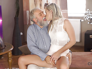 VIP4K. Angel-face slurps frail penis and fetches it in her sensitiv