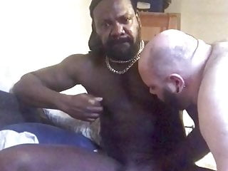 Black Muscle White Chub Nipple Play