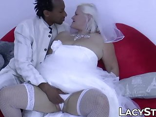 and groom screwed GILF BBC by bride facialized