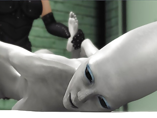 Female a jail hot dickgirl a gets fucked alien hard in by