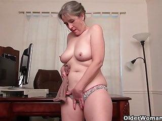 Naked brunette woman gif