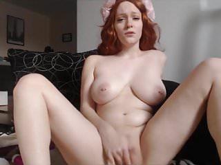 masturbating redhead