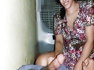sucking hubby cock with hindi galiya...