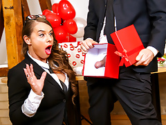 LETSDOEIT - Valentine's Day Office Sex with Busty Secretary