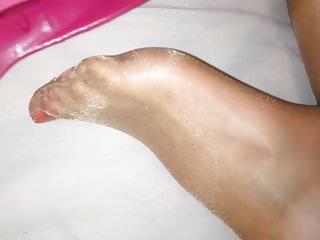 Shiny Stockings Feet!