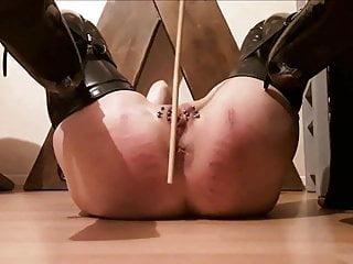 Stick on pierced pussy