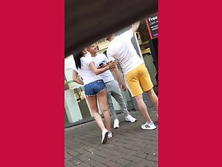 Juicy ass in shorts (Dick stranger)