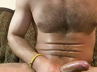Straight hairy Desi gym bro talks dirty and busts a nut