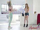 Amazing babes Kristen Scott and Britney Light going lesbian