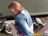 Unfaithful girlfriend gets her pussy wet by a guy in uniform