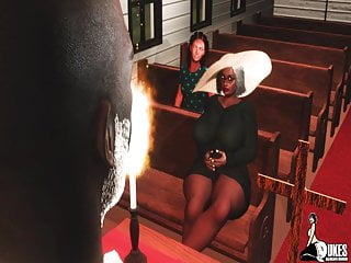 Granny catches the pastor fucking after church...