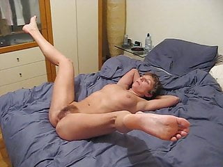 Submissive mistress spreads her legs.