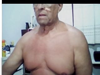 60 year old brazilian daddy showing his black...