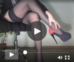 Margo Showing Her Stockings