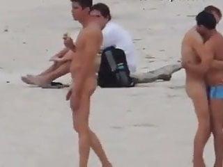 Nudist beach caught