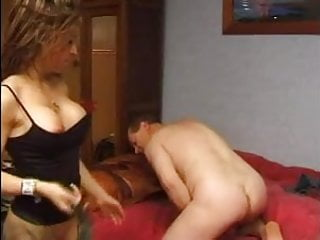 OLD AND YOUNG french babe with submissive old man