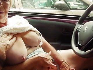 Granny blows...