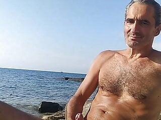 Cum on the shore