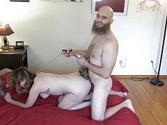 Animalistic Fuckin Of Foxy Lady On Leash With Tail Butt Plug