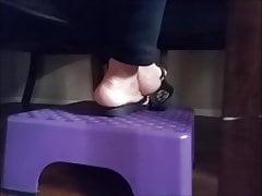 My mom's sandals feet 5-10-19