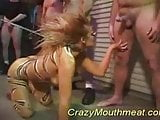 Crazy mouth meat wild cat takes oral orgy sex many cocks