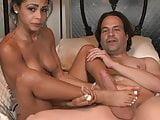 Hot Latina Gulliana Alexis is an expert at foot jobs