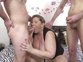 One cock is not enough for super mom