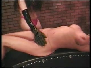 Dominatrix uses hardcore toys on busty blond