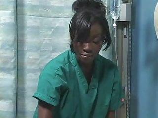 Black ebony girl in hospital...