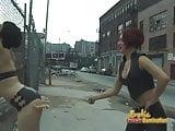 Two leather-clad sluts have some really kinky BDSM lesbian