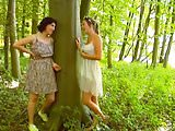 two lesb with wild forest