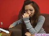Misa Tsuchiya licks sex toys she fucks with