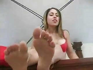 nice mistress showing feet